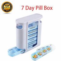 Weekly Daily Pill Box Organiser Tablet Medicine Storage Dispenser 7 Day Week UK