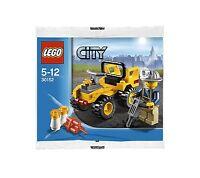 LEGO City 30152 Baufahrzeug Presslufthammer Bauarbeiter Promo Polybag Bag Beutel