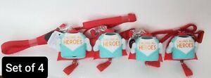 4 Bath & Body Works CALLING ALL HEROES  Pocket. -Bac Lanyard ID Badge Holder