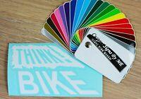 Old School BMX Track Fixie Bike Car Sticker Vinyl Decal Adhesive Window Bumper
