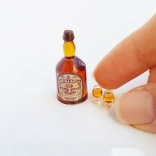 Dollhouse Miniature Bottle Beverage Chivas Whisky Set 1:6 Mini Tiny Supply Deco