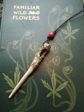 Natural Knotted Dorset Rowan Wood Wand Pendant - On a cord - Pagan, Witchcraft