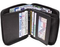 LEDER Geldbörse THE BOX - Schwarz - Geldbeutel mit Wiener Schachtel Portemonnaie