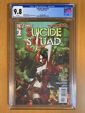 SUICIDE SQUAD #1 First Print Harley Quinn New 52 CGC 9.8 White Pages NM+ DC 2011