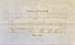 """Twilleys tapestry printed canvas Seaside Pier finish size ca.15 x 5"""" / 38 x 13cm"""