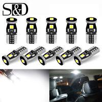 10X T10 501 194 W5W 3SMD 3030 LED Car White CANBUS Error Free Wedge Light Bulbs