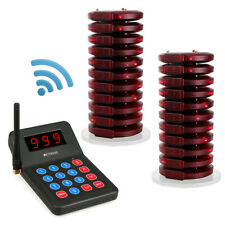 Church Restaurant Market Queuing Wireless System 1*Transmitter+20*Coaster Pagers