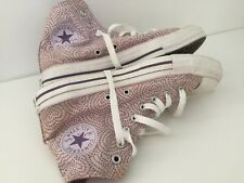 Converse ALL STAR Funky Pink Heart Polka Dot High Tops Trainer Shoes, UK 7