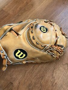 WISLON BASEBALL A2000 SERIES A2403 CATCHER MITT GLOVE RHT RIGHT HAND THROW USED