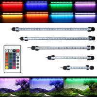 Wasserdichte Tauch Aquarium RGB LED Lichtleiste Streifen Lampe + Fernbedien ST