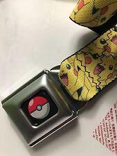 Pokemon Logo Seatbelt Buckle Style Belt