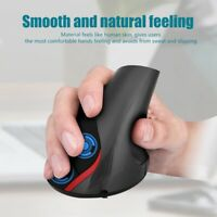 Wired Vertical Ergonomic Working USB Optical Mouse 3200 DPI 6 Buttons PC ASB TDM