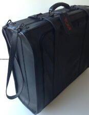 ULTRA RARE 1970's COLOMBIAN TUMI LEATHER Suitcase Luggage Bag wheels Rare~