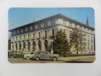 Vintage Unposted Postcard US Post Office Augusta GA 1950s Car in Parking Lot