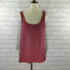 Rock & Republic Red Rinse Pigment Dyed Tank Top Womens Hi-Lo Hem size M