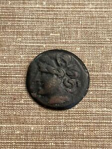 monnaie grecque a determiner bronze diam 21 mm poids 6,2 gr