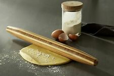 "20"" Wood French Rolling Pin Pastry Bread Pizza Pasta Dough Making Baking Roller"
