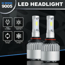 9005 HB3 H10 36W 8000LM COB LED Headlight Bulbs Kit Hi/Low Beams 6000K White