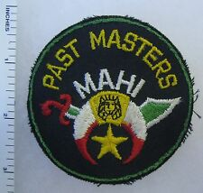 MASONIC SHRINER MAHI TEMPLE PAST MASTERS Vintage PATCH