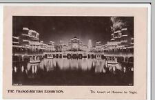 The Franco British Exhibition London, Court Of Honor By Night RP PPC Unposted
