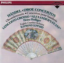 HÄNDEL: OBOE CONCERTOS - HOLLIGER - LEPPARD / CD (PHILIPS 426 082-2)