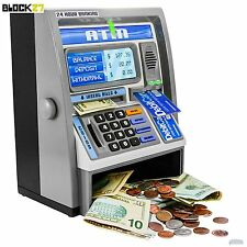 Coin Saving Money Box Jar Automatic ATM Machine Piggy Bank Children Kids