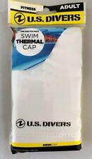 U.S. Divers Thermal Swim Cap, Adult, White, Silicone Ultra Comfort NIP