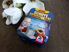 SCHMIDT Mini ⭐️ Spiel SCHIFFE VERSENKEN ab 8J Blechdose Strategie Reisespiel NEU