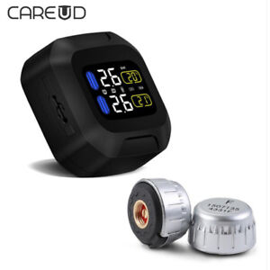 Wireless Motorcycle TPMS Tire Pressure Monitoring System Motor Tyre Auto Alarm