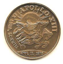 "NASA APOLLO XIII ""AMERICAN EXCEPTIONALISM"" APRIL 11 1970 BRONZE MINTED COIN"