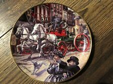FRANKLIN MINT Horse- Drawn Sutherland Steam Pumper Plate