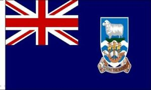 Pack Of 6 Falkland Islands Sleeved Flag suitable for Boats 45cm x 30cm