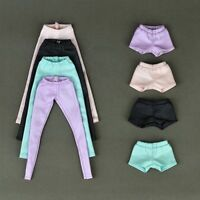 High Quality Elastic Leather Bottoms Pants For Barbie Doll Clothes Trousers Toy