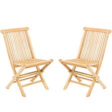 GRADE A Classic Teak Wood Folding Chair [2 Pcs] Wider Seat Than most [21