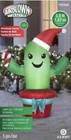 Airblown Inflatable 3.5 Ft Tall Cactus Christmas Gemmy