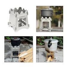 Portable Stainless Steel Compact Folding Wood Stove Outdoor Camping Picnic Y5V9