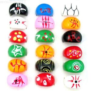 10/30/50/100pcs Band Ring Wholesale Mixed Colorful Resin Rings #16#17#18#19#20
