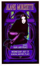 Bob Masse Alanis Morissette 1996 Rock Concert Poster Signed & Numbered