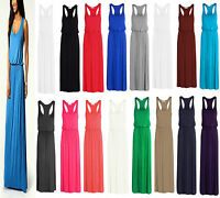Womens Ladies Lot Plus Size Sleeveless Balloon Toga Maxi Racer Back Dress 8-26