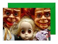 VENTRILOQUIST DUMMY MR PARLANCHIN / DOLL WITH NO NAME BLANK TOY GREETINGS CARD