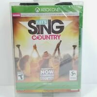 Let's Sing Country Xbox One Two Microphone Bundle New Sealed Karaoke Game