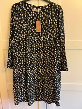 HUSH LUPIN DRESS, LINED, MINI DAFFODIL PRINT, SIZE 14, NWT