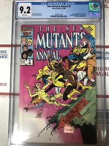 New Mutants Annual #2 Marvel 1986 CGC 9.2 White Pages - 1st Psylocke  🔑💥