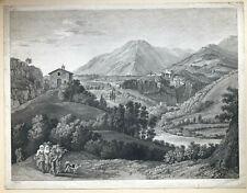 Balthasar Anton Dunker (1746-1807) - Vue du Convent de St. Cosimato - Stich