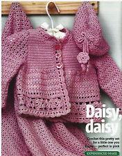 R#71 CROCHET DK PATTERN BEAUTIFUL SET FOR BABY GIRL 0-18mths