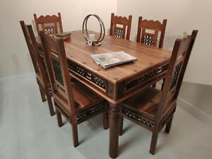 Mexican Pine Large Table 6 chairs Solid  Wood delivery available