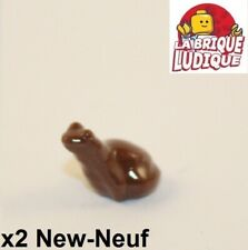 Lego - 2x Animal grenouille frog marron/reddish brown 33320 NEUF