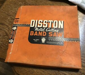 """Vintage Disston Band saw blade 100 ' coil x 1/8""""  14 tooth Hook (3 pack)"""