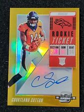 2018 Contenders Optic #115 Courtland Sutton Rookie Ticket Gold Prizm Auto #5/10