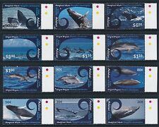 2012 Aitutaki Whales & Dolphins Complete Set Of 12 Fine Mint Mnh/Muh